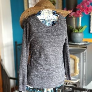 Gray sweater sz small relaxed fit